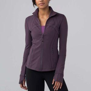 Lululemon Define Jacket Black Currant NWT Sz 8